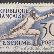 Sellos: FRANCIA IVERT 962, JUEGOS OLIMPICOS DE HELSINKI, ESGRIMA, NUEVO SIN SEÑAL DE CHARNELA. Lote 28353531