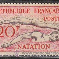 Sellos: FRANCIA IVERT 960, JUEGOS OLIMPICOS DE HELSINKI, NATACIÓN, NUEVO SIN SEÑAL DE CHARNELA. Lote 28353597