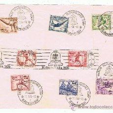 Sellos: HOJA CON MATASELLOS CONMEMORATIVOS I SERIE COMPLETA DE LOS JUEGOS OLIMPICOS 1936 DE BERLIN. Lote 29225253