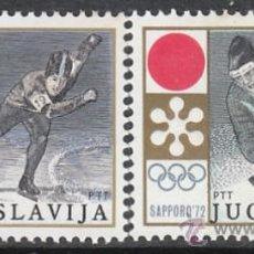 Sellos: YUGOESLAVIA 1331/2, JUEGOS OLIMPICOS DE INVIERNO EN SAPPORO 1972, NUEVO. Lote 30363666