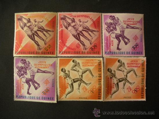 GUINEA 1963 IVERT 171/6 *** COMISIÓN PREPARATORIA JUEGOS OLÍMPICOS DE CONAKRY - DEPORTES (Sellos - Temáticas - Olimpiadas)