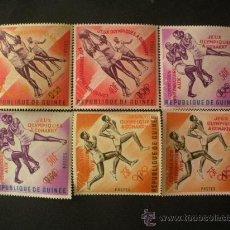 Sellos: GUINEA 1963 IVERT 171/6 *** COMISIÓN PREPARATORIA JUEGOS OLÍMPICOS DE CONAKRY - DEPORTES. Lote 31085637