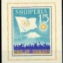 Sellos: ALBANIA AÑO 1964 YV HB 6K*** JUEGOS OLÍMPICOS DE TOKIO - DEPORTES - BANDERAS - MONTAÑAS. Lote 31280627