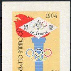 Sellos: RUMANIA AÑO 1964 YV HB 58*º JUEGOS OLÍMPICOS DE TOKIO - DEPORTES - ANTORCHA OLÍMPICA. Lote 31281240