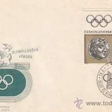 Sellos: CHECOESLOVAQUIA 1415/6, JUEGOS OLIMPICOS DE MEJICO, PRIMER DIA DE 29-8-1966. Lote 32309223