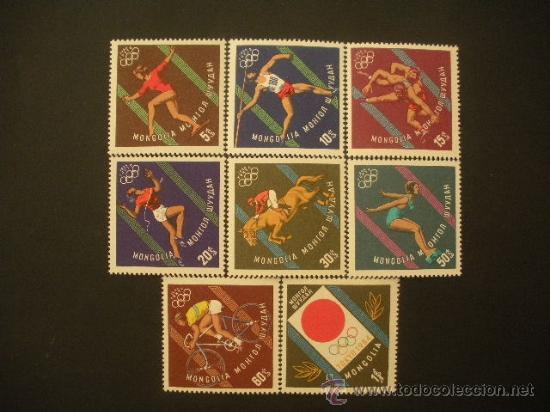 MONGOLIA 1964 IVERT 313/20 *** JUEGOS OLÍMPICOS DE TOKYO - DEPORTES (Sellos - Temáticas - Olimpiadas)