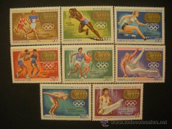 MONGOLIA 1969 IVERT 469/76 *** MEDALLAS DE ORO DE LOS JUEGOS OLÍMPICOS - DEPORTES (Sellos - Temáticas - Olimpiadas)