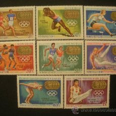 Sellos: MONGOLIA 1969 IVERT 469/76 *** MEDALLAS DE ORO DE LOS JUEGOS OLÍMPICOS - DEPORTES. Lote 32322009