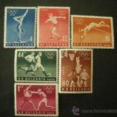 Sellos: BULGARIA 1956 IVERT 867/72 *** JUEGOS OLIMPICOS DE MELBURNE - DEPORTES. Lote 33408245