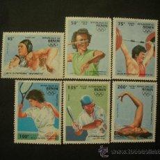 Sellos: BENIN 1995 IVERT 708A/708F*** JUEGOS OLIMPICOS DE ATLANTA-96 - DEPORTES. Lote 33517733