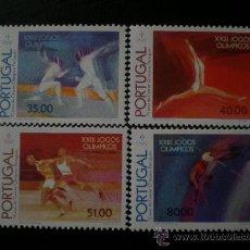 Sellos: PORTUGAL 1984 IVERT 1614/7 *** JUEGOS OLIMPICOS DE LOS ANGELES - DEPORTES. Lote 33740257