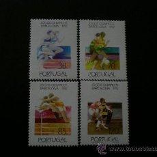 Sellos: PORTUGAL 1992 IVERT 1914/7 *** JUEGOS OLIMPICOS DE BARCELONA - DEPORTES. Lote 34065368
