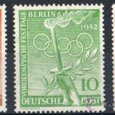 Sellos: ALEMANIA BERLÍN AÑO 1952 YV 74/75***/76* JUEGOS OLÍMPICOS - DEPORTES - ANTORCHA OLÍMPICA. Lote 34997996