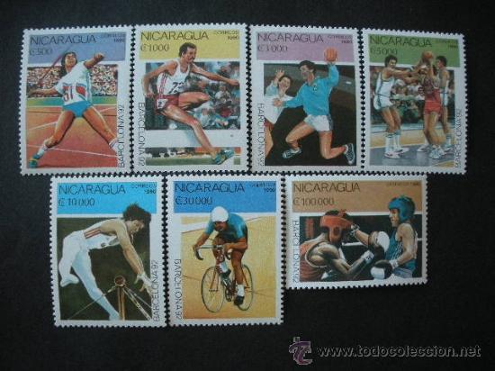 NICARAGUA 1990 IVERT 1530/6 *** JUEGOS OLIMPICOS DE BARCELONA 92 - DEPORTES (Sellos - Temáticas - Olimpiadas)