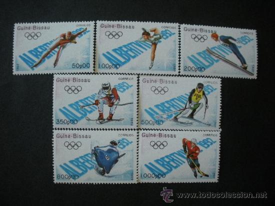 GUINEA BISSAU 1989 489/95 *** JUEGOS OLIMPICOS DE INVIERNO DE ALBERBILLE - DEPORTES (Sellos - Temáticas - Olimpiadas)