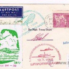 Sellos: 1958. USA/ALEMANIA. SOBRE CON SELLOS Y VIÑETA DEL CORREO AEREO. Lote 35685144