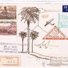 Sellos: 1960. PAPUA Y NUEVA GUINEA. SOBRE CIRCULADO CON SELLOS DE PAPUA Y VIÑETAS OLIMPIADA. Lote 35727964