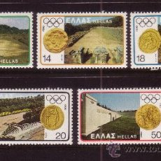 Sellos: GRECIA 1399/403*** - AÑO 1980 - JUEGOS OLIMPICOS DE MOSCU - ARQUEOLOGIA. Lote 124637538