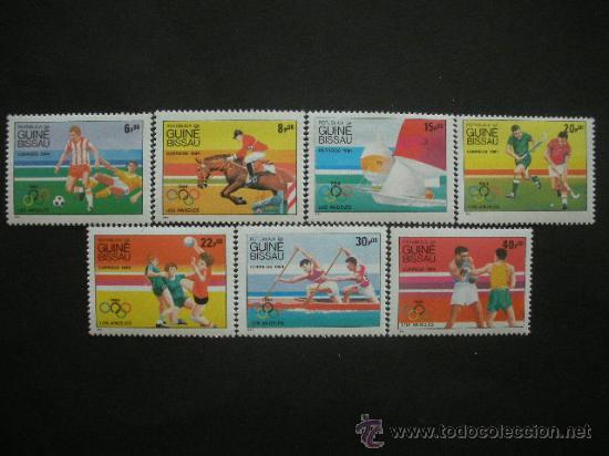 GUINEA BISSAU 1984 IVERT 282/8 *** JUEGOS OLIMPICOS DE LOS ANGELES - DEPORTES (Sellos - Temáticas - Olimpiadas)