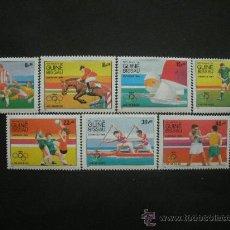Sellos: GUINEA BISSAU 1984 IVERT 282/8 *** JUEGOS OLIMPICOS DE LOS ANGELES - DEPORTES. Lote 36373589