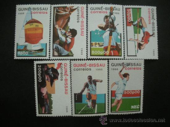 GUINEA BISSAU 1988 IVERT 425/31 *** JUEGOS OLIMPICOS DE SEÚL - DEPORTES (Sellos - Temáticas - Olimpiadas)