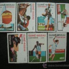Sellos: GUINEA BISSAU 1988 IVERT 425/31 *** JUEGOS OLIMPICOS DE SEÚL - DEPORTES. Lote 36373844