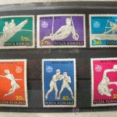 Sellos: RUMANIA 1976 IVERT 2964/9 *** JUEGOS OLIMPICOS DE MONTREAL - DEPORTES. Lote 37271018
