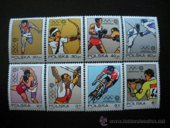 POLONIA 1972 IVERT 1995/2002 *** JUEGOS OLIMPICOS DE MUNICH - DEPORTES (Sellos - Temáticas - Olimpiadas)