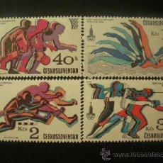 Sellos: CHECOSLOVAQUIA 1980 IVERT 2371/4 *** JUEGOS OLIMPICOS DE MOSCÚ - DEPORTES . Lote 38353184