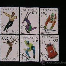 Sellos: TANZANIA LOTE DE SELLOS TEMATICA OLIMPIADAS . Lote 38927065