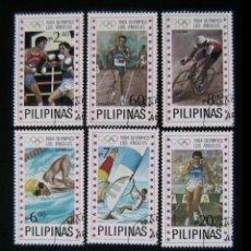 Sellos - FILIPINAS- SELLOS CONMEMORATIVOS DE LOS JUEGOS OLIMPICOS LOS ANGELES 84 - BOXEO- CICLISMO- NATACION - 39671228