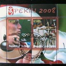 Sellos: BENIN 2007 HOJA BLOQUE DE SELLOS - TIRO CON ARCO - OLIMPIADAS PEKIN 2008 - JUEGOS OLIMPICOS. Lote 39746292