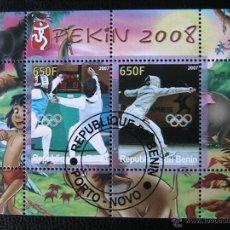Sellos: BENIN 2007 HOJA BLOQUE DE SELLOS - ESGRIMA - OLIMPIADAS PEKIN 2008 - JUEGOS OLIMPICOS. Lote 39746459