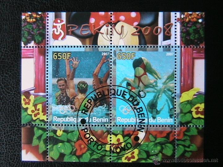 BENIN 2007 HOJA BLOQUE DE SELLOS - WATERPOLO - OLIMPIADAS PEKIN 2008 - JUEGOS OLIMPICOS (Sellos - Temáticas - Olimpiadas)