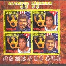 Sellos: SOMALIA 2008 HOJA BLOQUE DE SELLOS OLIMPIADAS- LEYENDAS OLIMPICAS- MARK SPITZ - TEOFILO STEVENSON. Lote 39746836