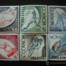Sellos: MONACO 1952 IVERT 386/91 *** JUEGOS OLIMPICOS DE HELSINKI - DEPORTES . Lote 40401807