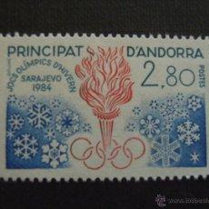 Timbres: ANDORRA FRANCESA, Nº YVERT 327*** AÑO 1983. JUEGOS OLIMPICOS DE INVIERNO, EN SARAJEVO. Lote 41103695