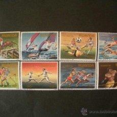 Sellos: RWANDA 1984 IVERT 1149/56 *** JUEGOS OLIMPICOS DE LOS ANGELES - DEPORTES. Lote 41269496