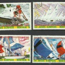 Sellos: GUINEA ECUATORIAL SELLOS DE LOS JUEGOS OLIMPICOS MONTREAL 1976 - VELA- BARCO- OLIMPIADAS MONTREAL 76. Lote 44771615
