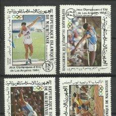 Sellos: MAURITANIA 1984 LOTE SELLOS OLIMPIADAS LOS ANGELES 84- BALA- PERTIGA- JABALINA- ATLETISMO. Lote 42287919