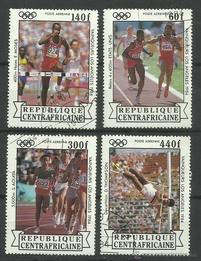 REPUBLICA CENTROAFRICANA 1984 LOTE SELLOS OLIMPIADAS LOS ANGELES 84- JUEGOS OLIMPICOS - ATLETISMO (Sellos - Temáticas - Olimpiadas)