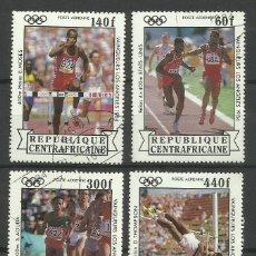 Sellos - REPUBLICA CENTROAFRICANA 1984 LOTE SELLOS OLIMPIADAS LOS ANGELES 84- JUEGOS OLIMPICOS - ATLETISMO - 42288020