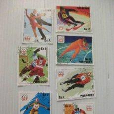 Sellos: LOTE DE 7 SELLOS DE PARAGUAY : JUEGOS OLIMPICOS DE INVIERNO DE INSBRUCK 1976 ... Lote 43495786