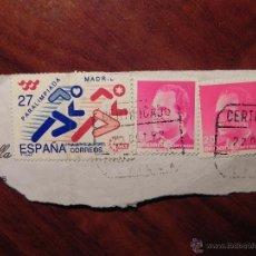 Sellos: VENDO SELLO PARALIMPIADAS´92 BARCELONA, MÁS SELLO DE 5 PESETAS MÁS SELLO DE 20 PESETAS S.M. REY.. Lote 43512529