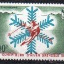 Sellos: NUEVA CALEDONIA AÑO 1967 YV A96 AEREO - JUEGOS OLÍMPICOS DE INVIERNO EN GRENOBLE - DEPORTES. Lote 43685097