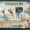 Sellos: BLOQUE DE SELLOS JUEGOS OLIMPICOS- PATINAJE SOBRE HIELO- OLIMPIADAS SARAJEVO 1984- HOCKEY. Lote 43841518