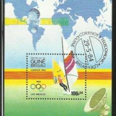 Sellos - BLOQUE DE SELLOS DE LOS JUEGOS OLIMPICOS- VELA- WINDSURF- OLIMPIADAS LOS ANGELES 1984 - 43957611
