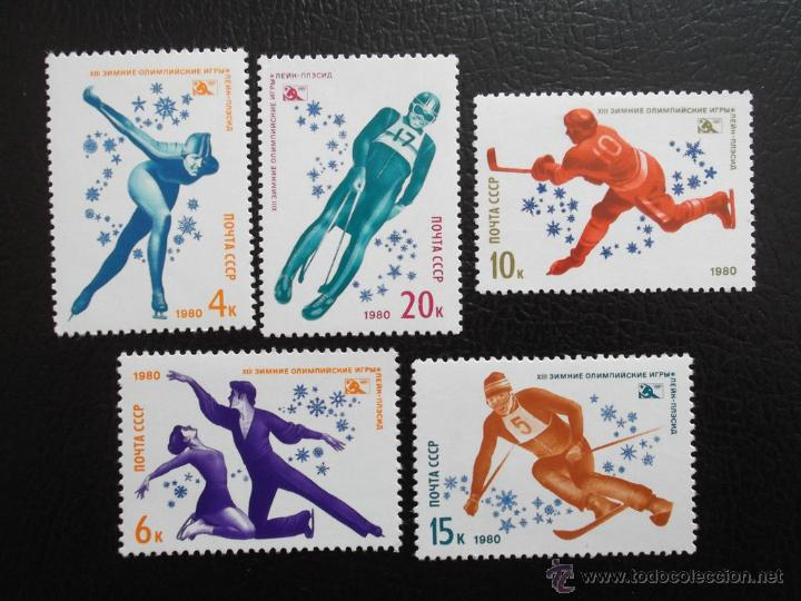 RUSIA. 4659/60 JJ. OO. DE LAKE PLACID: PATINAJE DE VELOCIDAD Y ARTÍSTICO**. 1980. SELLOS NUEVOS Y N (Sellos - Temáticas - Olimpiadas)