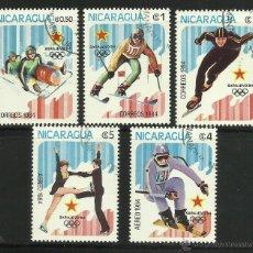 Sellos: NICARAGUA 1984 LOTE DE SELLOS OLIMPIADAS SARAJEVO 84- JUEGOS OLIMPICOS DE INVIERNO. Lote 44807371
