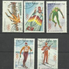 Sellos: VIETNAM 1984- LOTE SELLOS OLIMPIADAS SARAJEVO 84 - JUEGOS OLIMPICOS. Lote 44929574